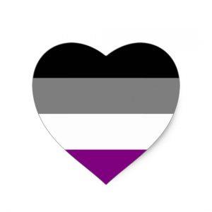 Herzförmige Asexualität Flagge