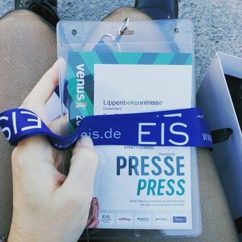 Mein Presse-Badge für die Venus