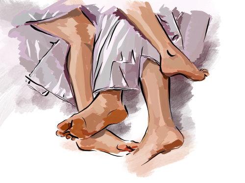 Auch die Füße gehören zu einer erotischen Massage