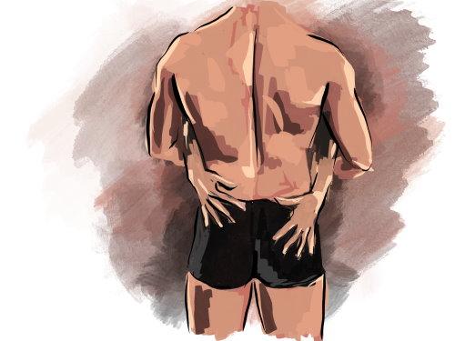 Der Po ist wichtig für die erotische Massage
