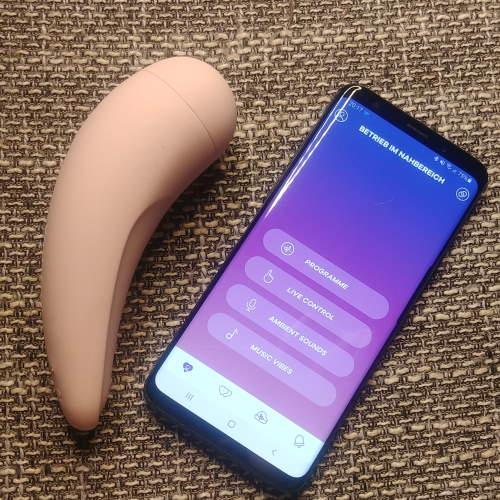 Satisfyer Curvy 2+ mit Satisfyer Connect App verbunden